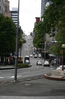 Steile Straßen in Auckland
