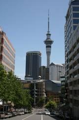 Und noch einen Blick auf den Skytower in Auckland