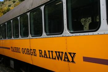 Aussenansicht der Taieri Gorge Railway