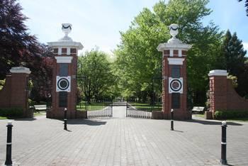 Der Eingang zum Queens Park in Invercargill