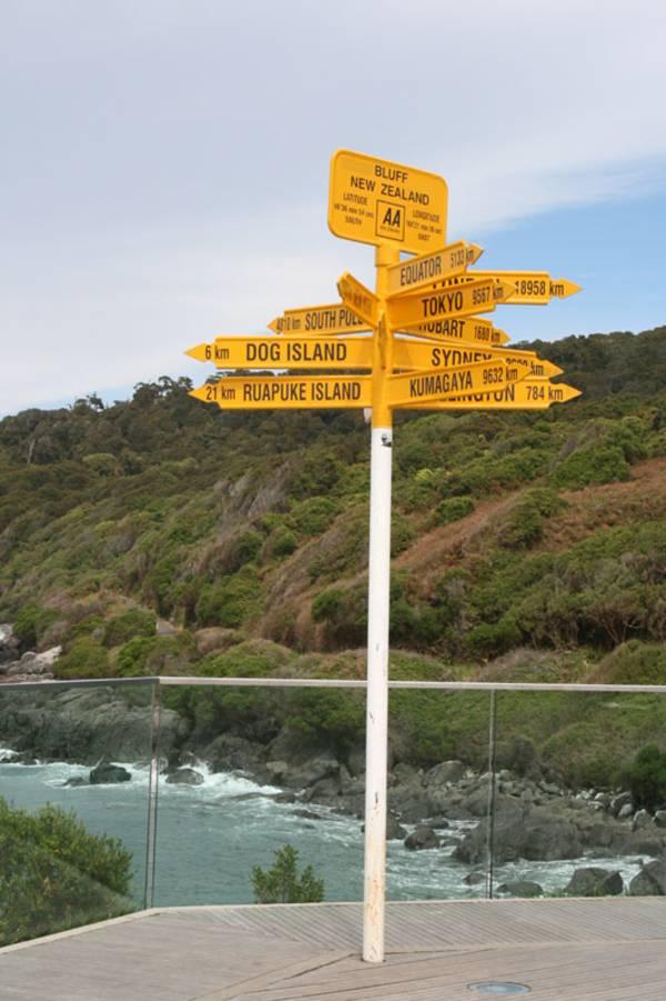 Am Ende des Highway No 1 steht dieser Entfernungshinweis