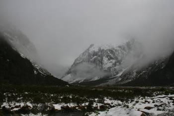 Winterliche Eindrücke längs des Milford Sound Highways