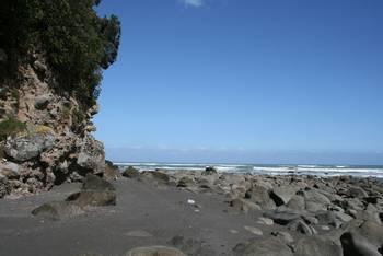 An der Küste in der Nähe von Oakura