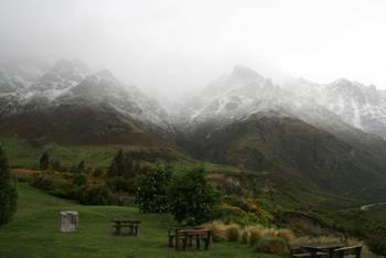 Kleiner Wintereinbruch auf dem Weg von Wanaka nach Te Anau